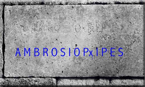 pietra tombale di S. Ambrogio