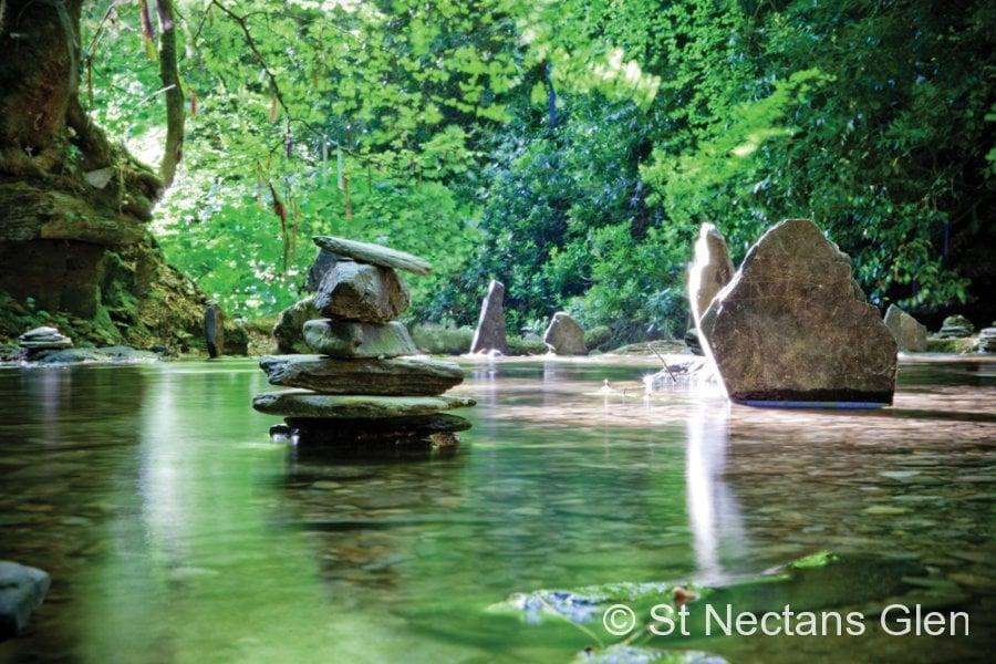 St Nectans Glen Waterfall One St Nectans Glen