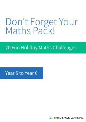 Y5-Y6 Holiday Maths Pack