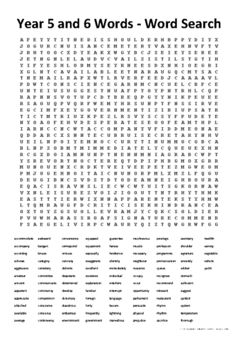 56 wordsearch