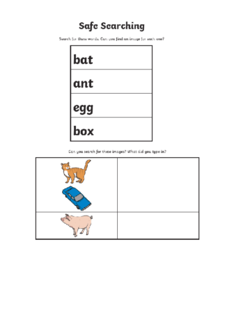 computing safe searching activities