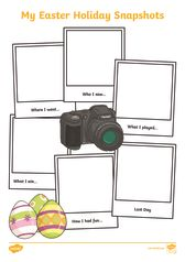 thumbnail of Easter Holiday Snapshots Writing Frame