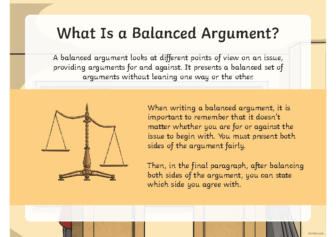 Writing a Balanced Argument Powerpoint