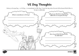 KS2 VE Day Discussion Worksheet