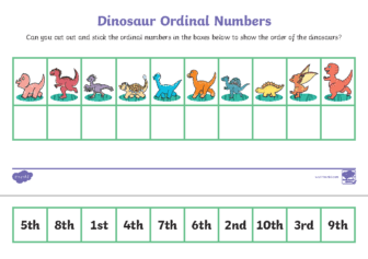 Ordinal numbers Dinosaurs