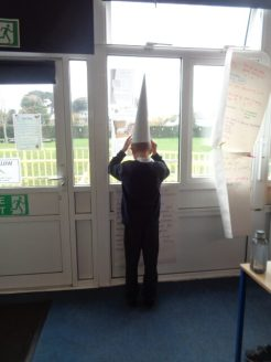 The Dunce's hat was used for children if they didn't behave properly.
