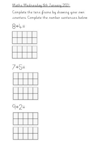 Maths Wednesday 6th January 2021