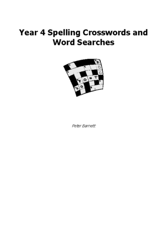 Year 4 Spelling Crosswords and Word Searches