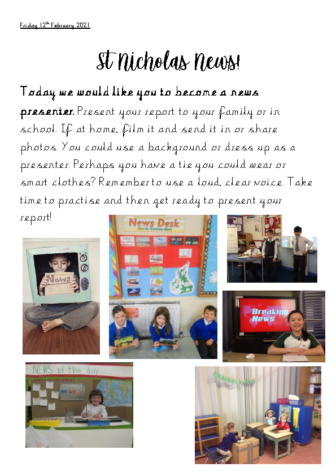 Friday 12th February News Reporter Challenge