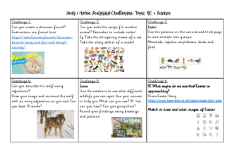 Year 1 Home Learning Challenges Week 1