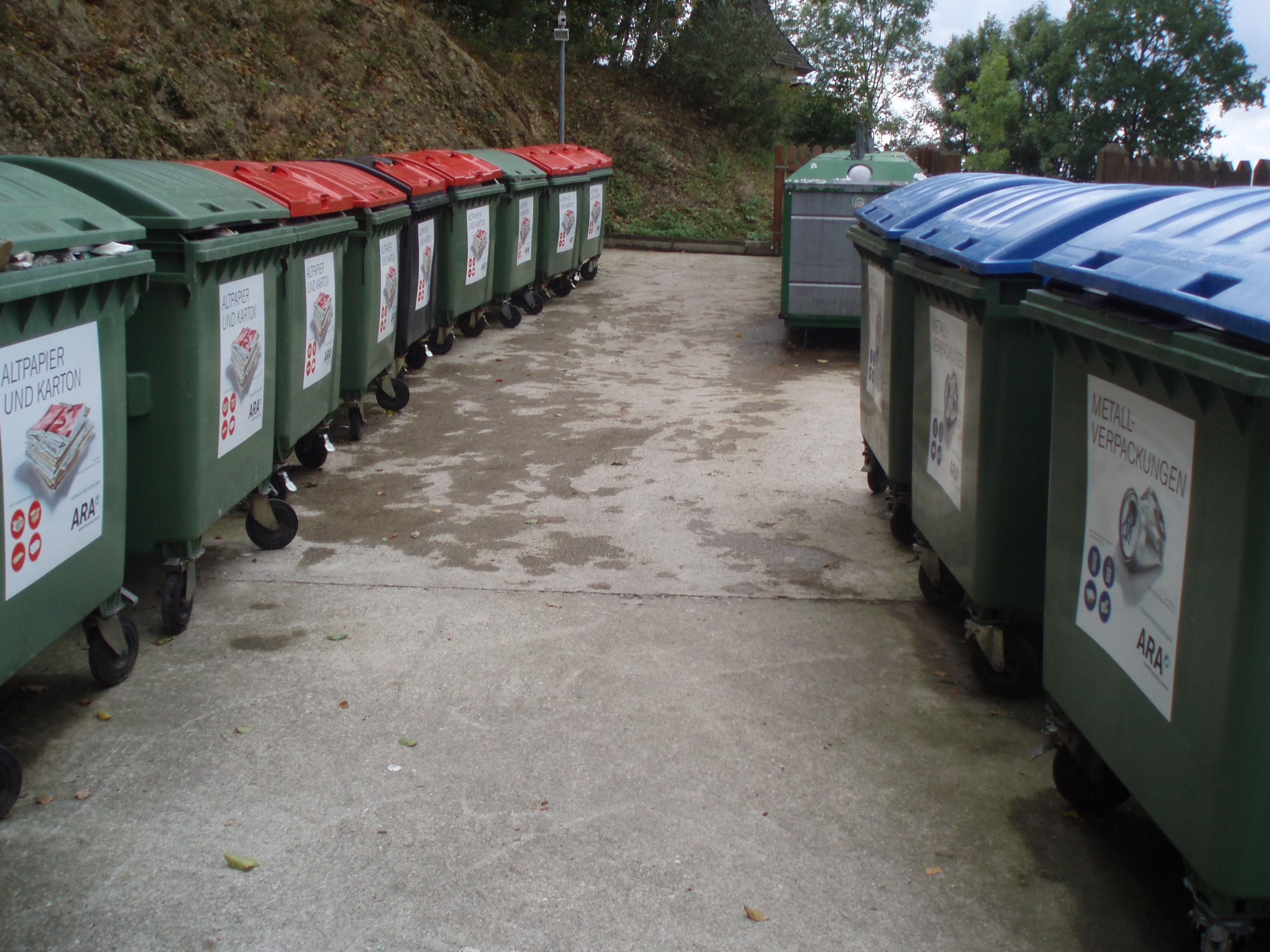 Containerstandplatz Ortseinfahrt, Foto Marktgemeinde