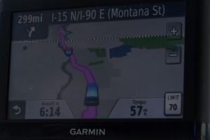 Nur noch 300 Meilen auf der Interstate