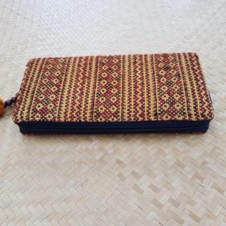 cotton wallet red and orange