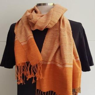 dunne terracotta sjaal