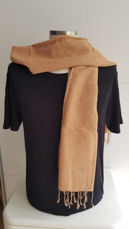 Beige scarf handwoven in Thailand