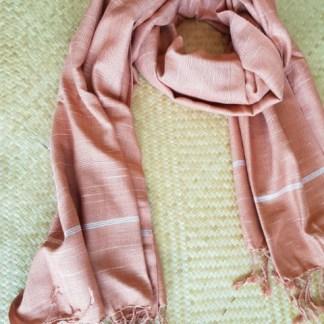 fijne sjaal terracotta