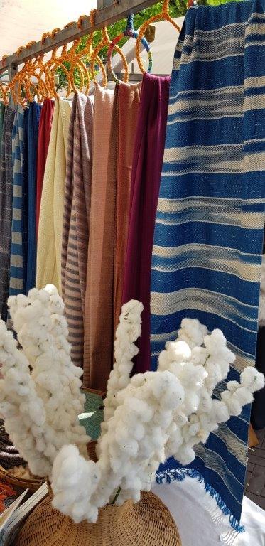 sjaals met katoen
