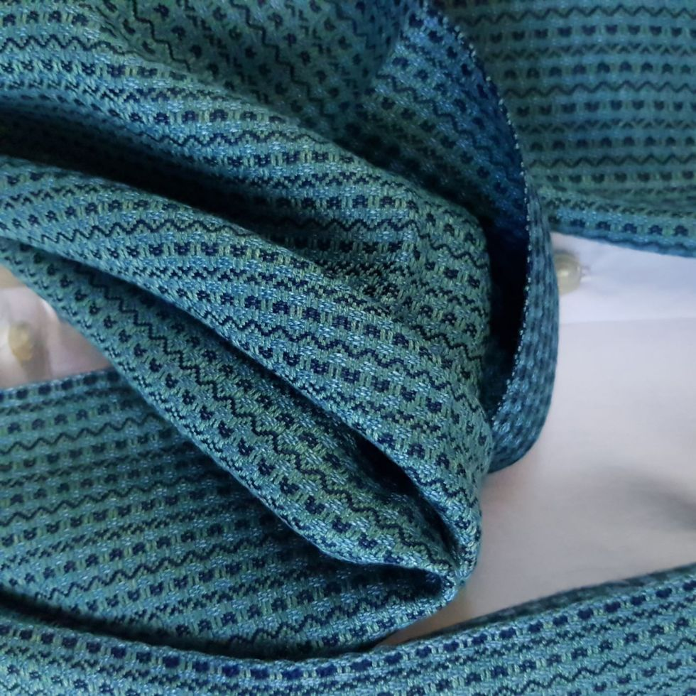 parelmoer blauw met indigo blauw