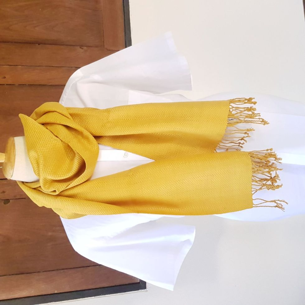 goudgele sjaal