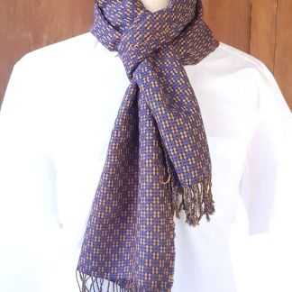 blauw oranje sjaal