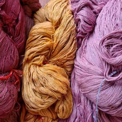 yarn colored with natural dyes