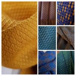 veel kleuren sjaals voor de kerst
