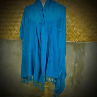 azure blue shawl