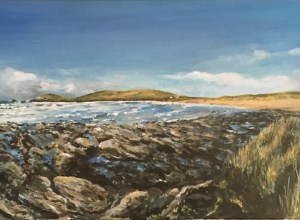 Constantine Bay, acrylic painting on canvas