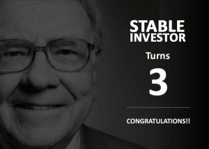 Stable Investor Completes 3 Years – My Letter to You