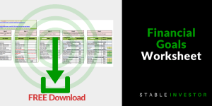 (FREE Download) Financial Goal Planning Excel Worksheet
