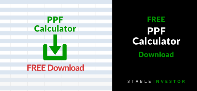 PPF Calculator Excel Worksheet Download
