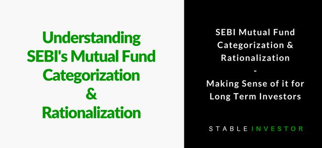 SEBI Mutual Fund Categorisation Rationalisation Investor