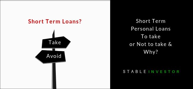 Short Term Personal Loans India