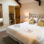 Self-catering cottage in Northumberland, Bullfinch cottage master bedroom
