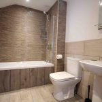 Self-catering cottage in Northumberland, Old Mill cottage first floor bathroom