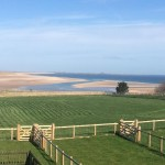 View from the garden at Heather House - Budle Bay