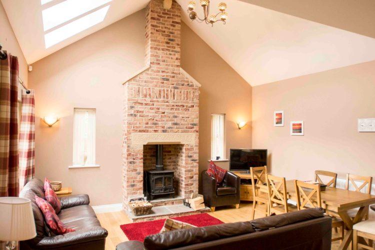 Self-catering cottage in Northumberland, Roe Deer living room