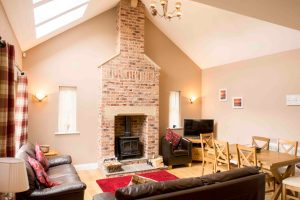 Self-catering cottage in Northumberland, Roe Deer living room