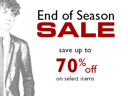 End of season sale Staccato Vancouver
