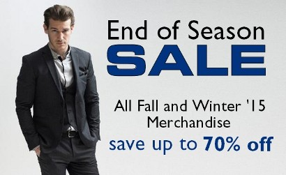 2015 End of Season Sale Staccato Menswear Fashion for Men Suits Weddings Special Occasions