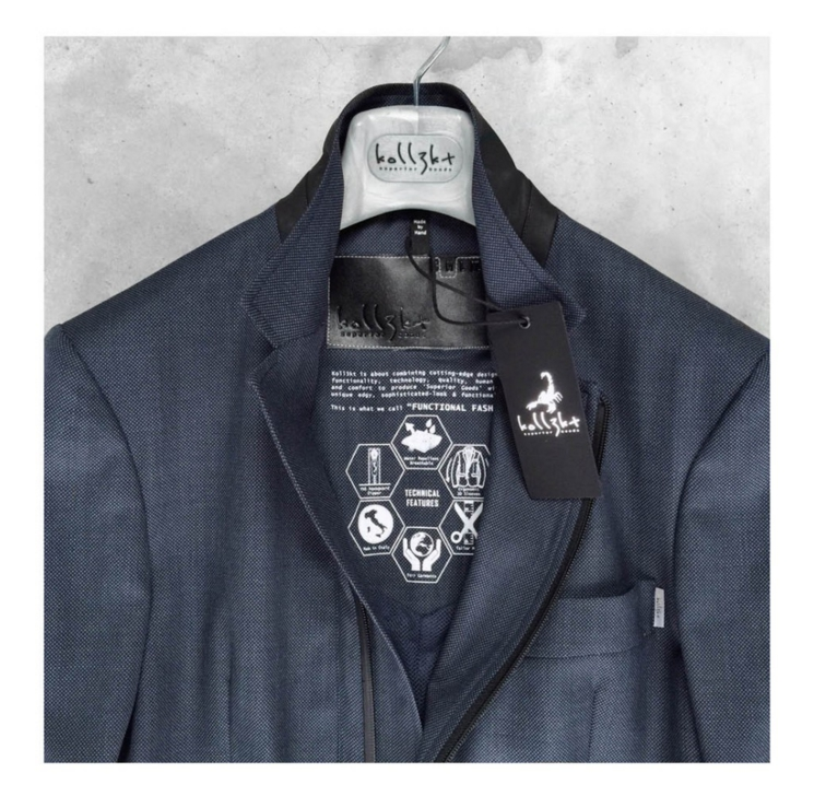 Koll3kt Travel Blazer Navy