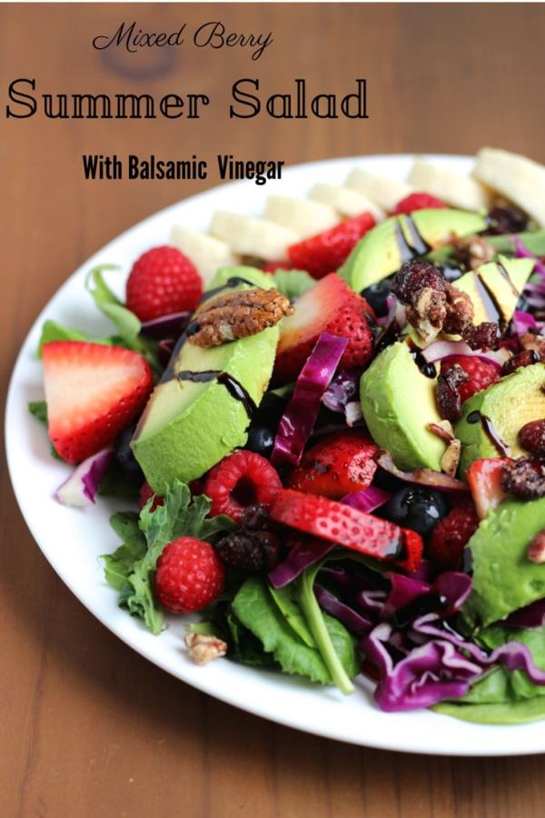 mixed berry summer salad