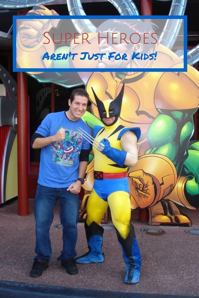 Adults like super heroes too!