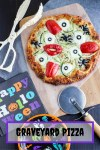 Everything you might find in a graveyard has made its way into this devilishly spooky pizza! Use a frozen pizza for the base but scare it up with eyeballs, spiders, tongues, vampire fangs, and worms for your kids before you go out trick or treating on Halloween!