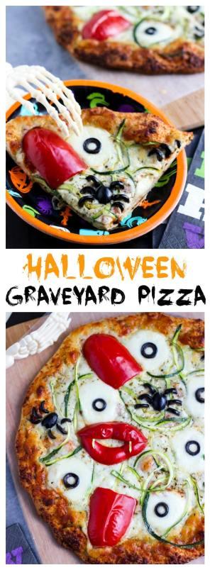 halloween graveyard pizza