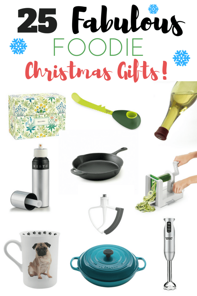 25 fabulous foodie Christmas gifts that any food-lover, chef, or home cook would love to find under their Christmas tree! I use and love every single item on this list!