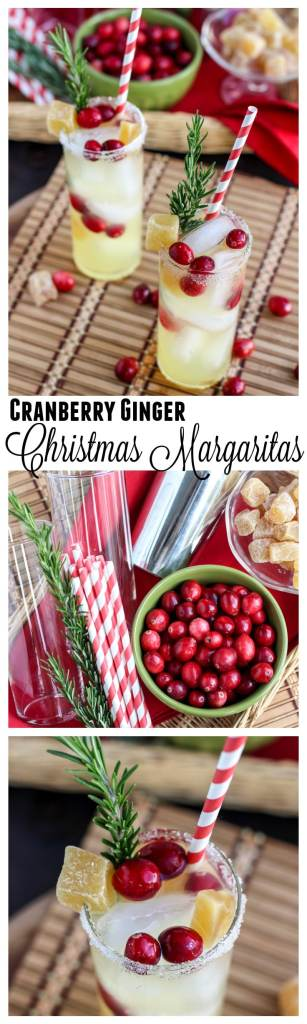 Cranberry Ginger Christmas Margaritas