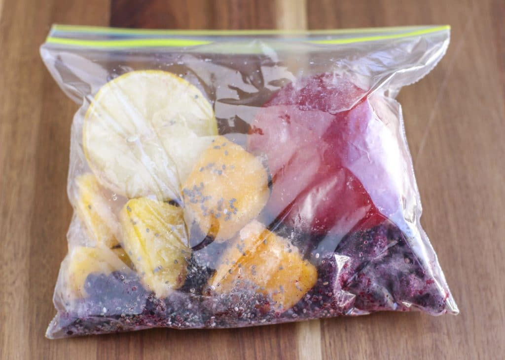 How to prep smoothie bags