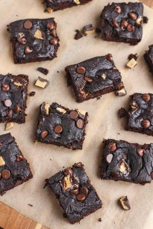 chocolate peanut butter black beans brownies