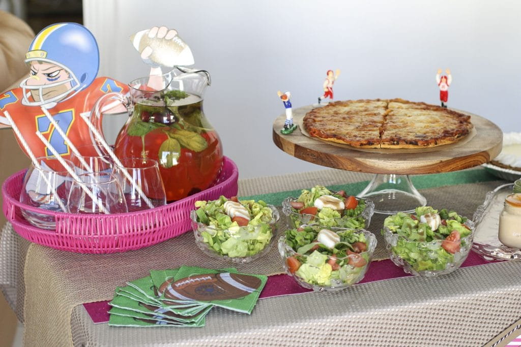 football party buffet table-2